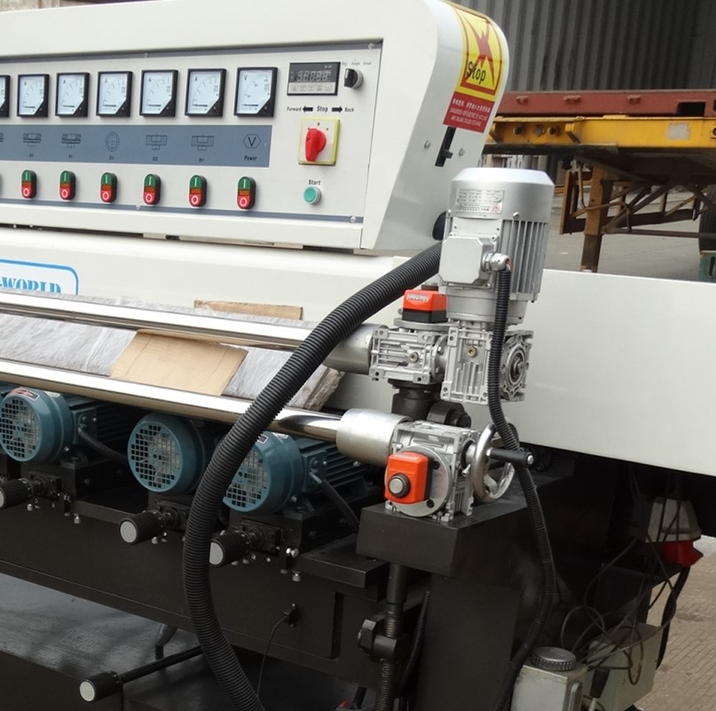 Glass straight edge beveling machine