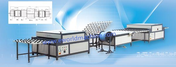 Vertical Insulating Glass Machine for Washing And Drying