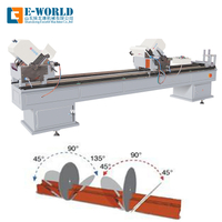 UPVC Plastic Profile Double Head Cutting Window Assemble Machine