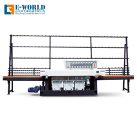 7 Motors glass straight round edging and polishing machine
