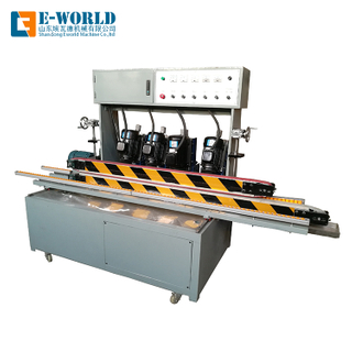 Horizontal small size glass beveling machine