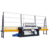 9 Spindles Flat Glass Straight Line Edging Polishing Machine