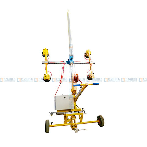 Durable Electricity Curved Bus Glass Lifting Equipment