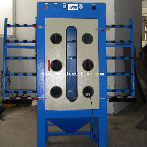 Manual Air Operation Glass Sand Blasting Machine